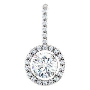 Lab Grown Diamond Pendant with Chain